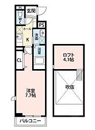大阪府吹田市寿町2丁目の賃貸アパートの間取り