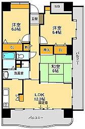 グレイシャス33[2階]の間取り