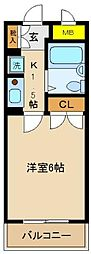 千葉県松戸市小金上総町の賃貸マンションの間取り