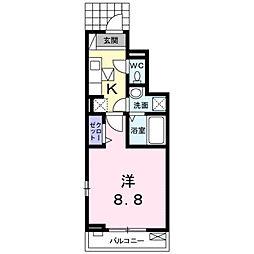 カーサ忍ヶ丘[0102号室]の間取り