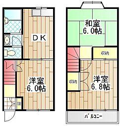 [テラスハウス] 神奈川県綾瀬市小園 の賃貸【/】の間取り