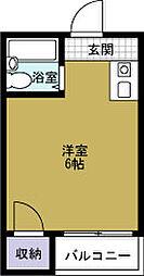 JPアパートメント港5[2階]の間取り