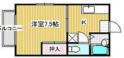 新潟県新潟市中央区日の出1丁目の賃貸アパートの間取り