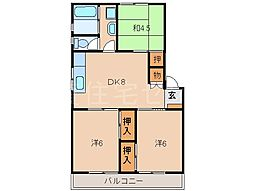 コーポラス神戸[1階]の間取り