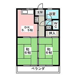 ふじマンション[3階]の間取り