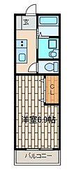 ことぶきコーポ(コトブキコーポ)[1階]の間取り