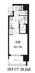 Osaka Metro谷町線 谷町六丁目駅 徒歩8分の賃貸マンション 10階1Kの間取り