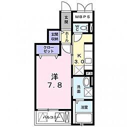 ルミナス ハート[3階]の間取り