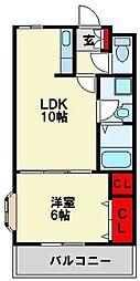 センチュリオン黒崎[203号室]の間取り