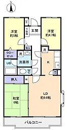 フロイデ勝田台壱番館[3階]の間取り