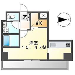 JR東海道本線 尾頭橋駅 徒歩8分の賃貸マンション 7階ワンルームの間取り