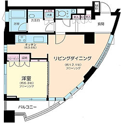 東京都港区北青山2丁目の賃貸マンションの間取り