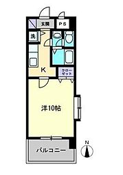 KWレジデンス東石井[905号室]の間取り