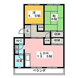 コーポ武田[2階]の間取り