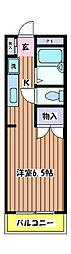 神明岡部マンションII[2階]の間取り