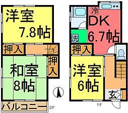 [一戸建] 東京都江戸川区大杉1丁目 の賃貸【/】の間取り