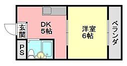 トラスティ加美[507号室]の間取り