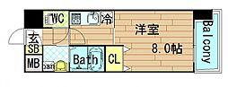OAK弥栄[6階]の間取り