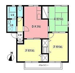 サーフコート湘南B[2階]の間取り