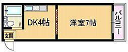 大阪府大阪市都島区都島本通5丁目の賃貸マンションの間取り