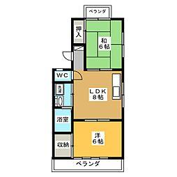 メゾン菊園[2階]の間取り