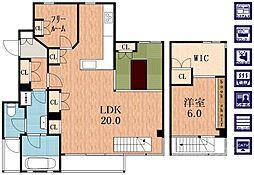 文の里コーポラティブ住宅[3階]の間取り