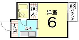 メゾンパルフェ[2階]の間取り