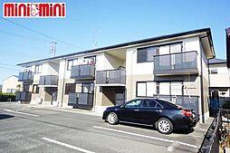 愛知県豊川市市田町中新屋の賃貸アパートの外観
