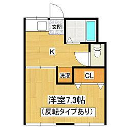 茨城県土浦市都和1丁目の賃貸アパートの間取り