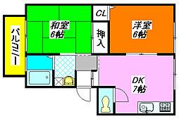 サンビレッジ・ラポールC棟 102号室[1階]の間取り