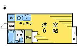 新宿建築組合ビル[203号室]の間取り