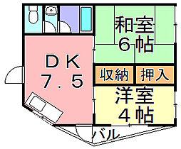 コンフォート千本南[3階]の間取り