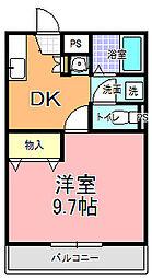 YNコート袴塚[111号室]の間取り