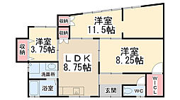 [一戸建] 兵庫県川西市出在家町 の賃貸【/】の間取り