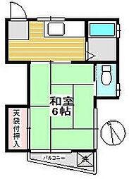 玉生コーポ[2階]の間取り