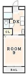 サンヴィレッジ山城[4D号室]の間取り