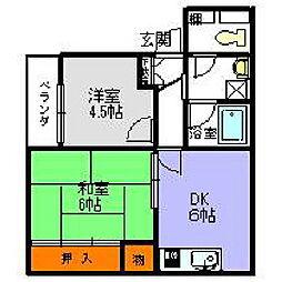 寿マンション[105号室]の間取り