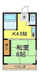 ほほえみ荘[1階]の間取り