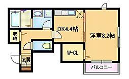 Osaka Metro谷町線 都島駅 徒歩5分の賃貸アパート 1階1Kの間取り