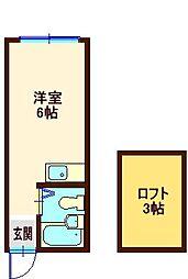 神奈川県横浜市港北区仲手原1の賃貸アパートの間取り