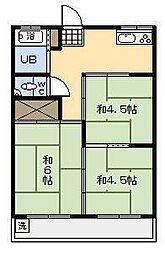 第1岡崎アパート[202号室]の間取り