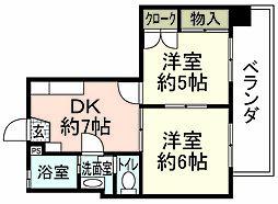 第88東白島ビル[8階]の間取り