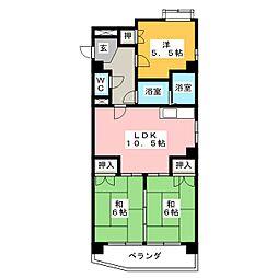 日映マンションII[7階]の間取り