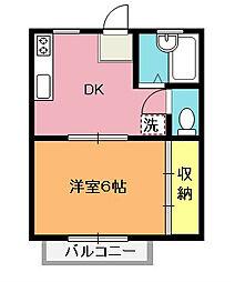 レーベンハウス行田[203号室]の間取り