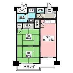 多賀城ロジュマンG棟[14階]の間取り