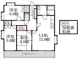 天沼山本コーポ[2階]の間取り
