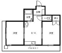 長崎県長崎市片淵2丁目の賃貸マンションの間取り