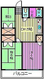 第2静和荘 高鼻[1階]の間取り