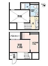 愛知県名古屋市守山区小幡宮ノ腰の賃貸アパートの間取り