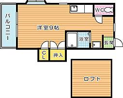 シティベール引野II[2階]の間取り